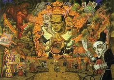 The Spectre of Monster Appeal Todd Schorr, acrylic on canvas (pop surrealism) Art Pop, Arte Lowbrow, Designer Couch, Graffiti, The Spectre, Old Master, Surreal Art, Cartoon Art, Fantasy Art