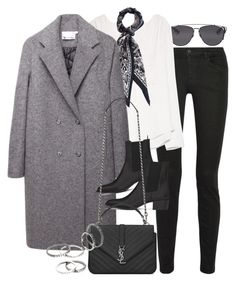 """""""Untitled #7035"""" by nikka-phillips ❤ liked on Polyvore featuring Christian Dior, Proenza Schouler, MANGO, T By Alexander Wang and Yves Saint Laurent"""