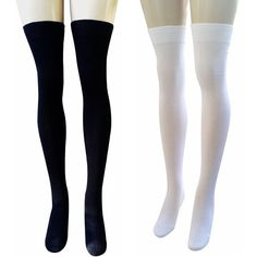 AM Landen Ladies Cotton Thigh-Highs Socks Stockings Sexy and Elegant ($7.95) ❤ liked on Polyvore featuring intimates, hosiery, socks, thigh high hosiery, cotton socks, sexy socks, thigh-high socks and sexy hosiery