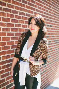 Leopard's Meow www.ellechoi.com Leopards, Blazer, Jackets, Women, Fashion, Down Jackets, Moda, Fashion Styles, Blazers