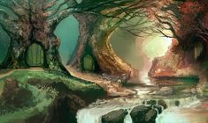 Shady Nook Falls by M0nkeyBread on DeviantArt