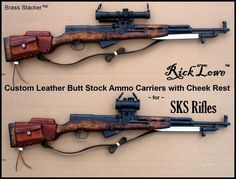 SKS, Rick Lowe™ Butt Stock Leather Ammo Carriers