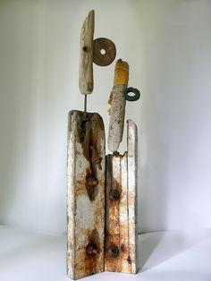 La planche (faire la) Driftwood sculpture by Paul Herail