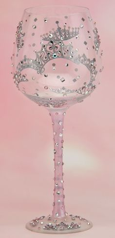 """Princess"" Super Bling Wine Glass by Lolita (Hula Island)"