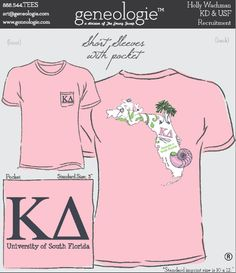 Love @geneologie State Designs! #FL #KD #KappaDelta