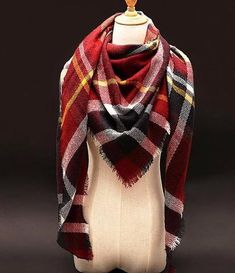 Oversized Blanket Scarf     Oversized Blanket ScarfMaterial: Acrylic,Cashmere,WoolScarves Length: 135cm-175cm   Primary View   Sassy Posh