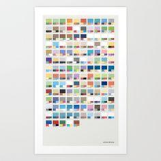 Poke-Pantone 3 (Hoenn Region) Art Print by Zeke Tucker - $17.68