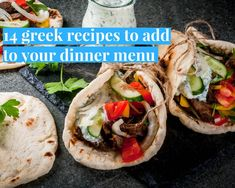 There's just something about Greek recipes that we love during the summer (okay and maybe all year round). The amazing flavors, the addictive sauces, the crispy salads and more are a tasty option that you should add to your menu! Greek Spinach Pie, Greek Lemon Chicken, Mediterranean Diet Recipes, Mediterranean Dishes, Greek Menu, Greek Dinners, Homemade Tzatziki Sauce, Greek Pasta, Greek Cooking