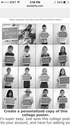 End of Year Teacher Gift Ask each child a word or words to describe their teacher.