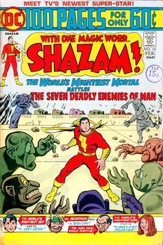 Captain Marvel - Shazam #16 (February 1975) - Cover by Bob Oksner