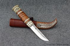 Sami style knife with curly maple - Abyrvalg