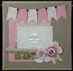 So pretty and feminine - great layout to focus on one pic  Bee Divine Designs: A scrapbook layout or two...