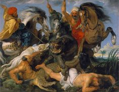 The Hippopotamus Hunt, oil on canvas by Peter Paul Rubens, c. in the Alte Pinakothek, Munich. Peter Paul Rubens, Paul Cezanne, Michael Bay, Baroque Art, Hippopotamus, Western Art, Exotic Pets, Oil Painting On Canvas, Art And Architecture