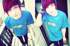 His hair, his face, his shirt!!!!!!!!