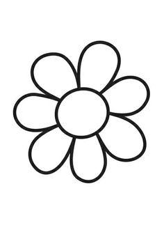 Kleurplaat bloem - simple flower