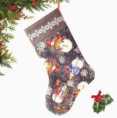 Snowman Christmas/Holiday Stocking Snowflake by atonydesignbytony