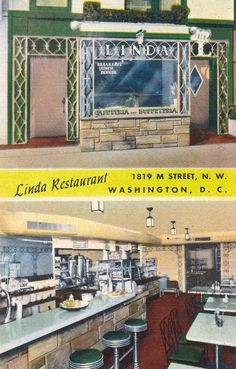 https://flic.kr/p/vRAxig | Linda Restaurant (1940s) | Herman Kilsheimer (1915-1984) was a Jew who fled Nazi Germany in 1933 and settled in Washington. Linda's (named after his daughter) grew into a successful local chain of cafeterias that featured dishes from Kilsheimer's homeland. The building at 1819 M Street still stands; it is currently home to the Mpire Club.