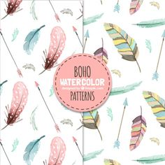 More than a million free vectors, PSD, photos and free icons. Exclusive freebies and all graphic resources that you need for your projects Watercolor Feather, Watercolor Design, Watercolor Pattern, Watercolour Art, Boho, Doodle, Halloween Mason Jars, Sharpie Crafts, Diy Crafts To Do