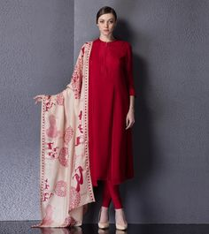 Plane Georget Salwar kamiz with Printed Dupatta.. Get it done at http://mytailor.in/