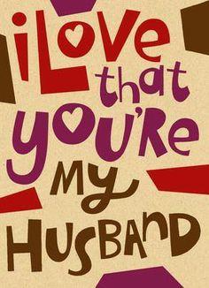 My amazing husband...