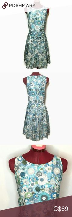 Liberty Art Fabrics By Lord & Taylor Womens Dress Liberty Art Fabrics By Lord & Taylor Womens Dress 14 Blue Small Susanna Sunflower Pockets Excellent Condition-Like New Measured While Laying in in Lord & Taylor Dresses Midi Liberty Art Fabrics, Taylor Dress, Lord & Taylor, Summer Dresses, Formal Dresses, Blue And White, Pockets, Closet, Things To Sell