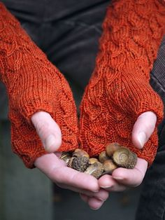 Gorgeous fingerless mitts.