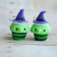 Witch Cupcakes!  Currently working on another restock! I'll be including Halloween and Christmas themed Cupcakes along with a few Pokémon Cupcakes. A date will be posted soon. :) ❤ #polymerclay #polymerclaycharms #claycharms #clay #charms #jewelry #food #foodie #foodjewelry #pendants #handmade #diy #etsy #crafts #restock #new #witch #cupcakes #halloween #christmas #pokemon #pokemongo #kawaiifood #kawaiicharms #kawaii #cute
