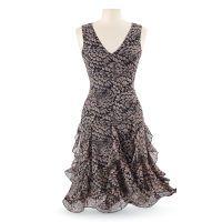 Feather Chiffon Dress