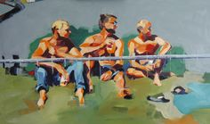 Menbehindfence Bubble 2014 Oil/Canvas Bubbles, Scene, Oil, Canvas, Painting, Fictional Characters, Tela, Painting Art, Canvases