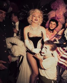 Marilyn costume party, 1955.