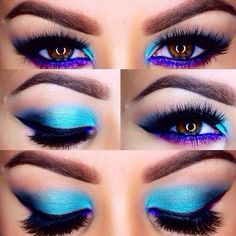 Blue & Purple Smokey Eye - Magnet Look