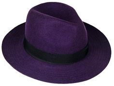Womens Purple Fedora. Lucky, The Gumshoe Goddess loves this hat.