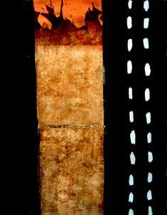 Déchirure  -  da série FRACTURAS (Pintura),  116x89 cm por Maria Antónia Santos óleo e técnica mista sobre tela
