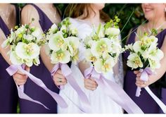 Orchid and rose silk flower bridal bouquet and boutonniere set - TheWeddingMile.com