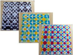 tie-dyed tissue paper