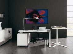 Cool minimalist home office space idea