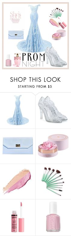 """Prom night #light blue"" by pengy-vanou on Polyvore featuring Dolce&Gabbana, Boohoo, Lancôme, By Terry, Charlotte Russe, Essie, Prada and PROMNIGHT"