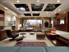 Interior Design from the set of Mad Men <3 I absolutely looooove Don Draper's apartment