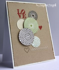 Doodle and arrange circles in this maner! would make an awesome card. will make! <3