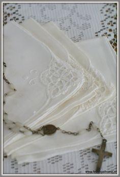 Antieke zakdoekjes, set van 4 | *NIEUWSTE PRODUCTEN* | Feeling At Home