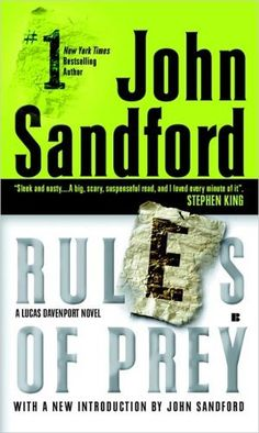 Rules of Prey (Lucas Davenport, No. 1) by John Sandford. $9.99. http://www.letrasdecanciones365.com/detailb/dpslk/0s4l2k5k2y0e5n8i1e9l.html. Author: John Sandford. Publisher: Berkley; Reprint edition (August 2, 2005). Recommended for Ages 18 and up. The haunting, unforgettable, ice-blooded thriller that introduced Lucas Davenport is so chilling that you're almost afraid to turn the pages and so mesmerizing you cannot stop.              ...
