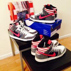 Nike SB Dunk Mid Born in the USA #NikeSB #Nike #sneakers - photo by @davidjnoe