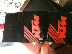 My imitation KTM duct tape trifold wallet