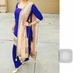 Punjabi blue suit…