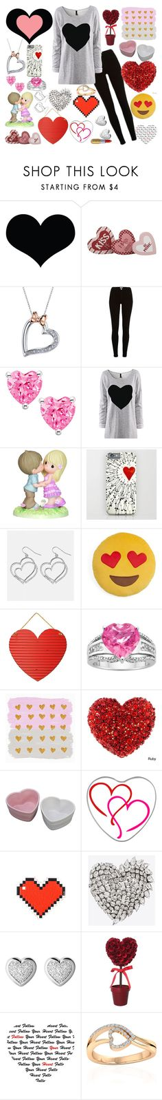 """Hearts"" by zelephant ❤ liked on Polyvore featuring Brika, Disney, River Island, Precious Moments, Avenue, Throwboy, Anya Hindmarch, Yves Saint Laurent, Links of London and Winky Lux"