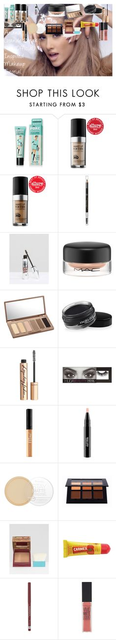 """Ariana Grande Break Free (Official) Inspired Makeup Tutorial"" by oroartye-1 on Polyvore featuring beauty, MAKE UP FOR EVER, Anastasia Beverly Hills, Benefit, MAC Cosmetics, Urban Decay, Inglot, Charlotte Tilbury, Huda Beauty and Maybelline"