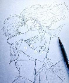 Wooow no puedo olvidarme de mi primera pareja yuri animada, Haruka (Uranus) y Michiru (Neptune).De verdad me encantaría saber quien hizo este dibujo porque le salio buenisimo *w* Crédito a él o ella
