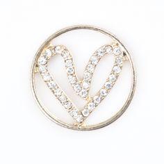 Smashing Fancy   Heart Large Gold Round Window