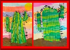 First Grade Cactus « Mrs. Gutterman's Art Blog