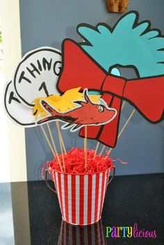 Dr Seuss photo booth props